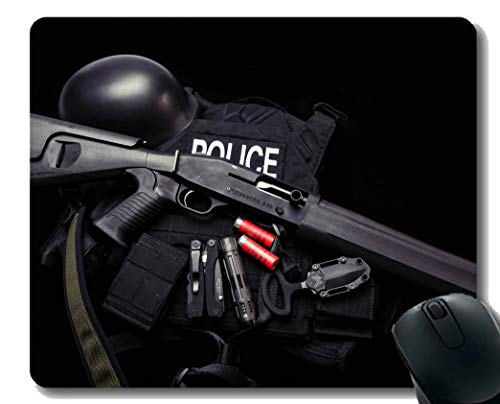 Ihr eigenes Customized Mousepad, Gun Mossberg 930 Waffe Police Car Rubber Base Mauspads