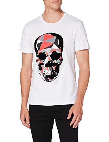 Antony Morato MMKS01867-FA100144-1000 Camiseta, Blanco, L para Hombre