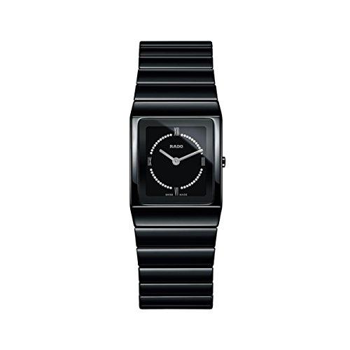 Rado Women's Ceramica Diamond Black Ceramic Case Quartz Analog Watch...