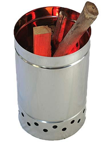 野焼き防止「焼却筒」キャリー焼却炉 | ステンレス筒 φ29 (ロングサイズ47cm)