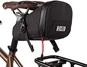 Two Wheel Gear - Commute Seat Pack - Water Resistant Under Seat Bag for Bicycle with Waterproof Zippers, Perfect for Biking, Work, and Touring - Black