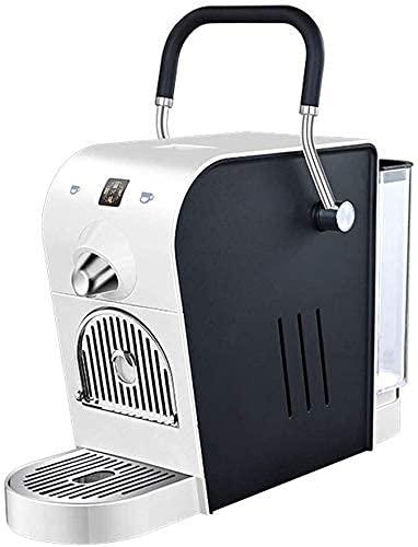 JLKDF Machine à café électrique à Capsule 20Bar Pression Domestique Conception compacte Automatique Réservoir deau 0.8L 1400W 220V Compatible avec Capsule Italico/Martello, Noir (Couleur: Blanc)