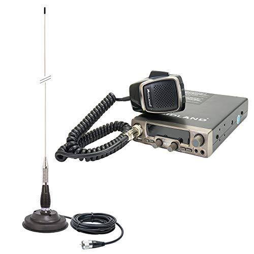 Midland Packet Radio CB M20 ASQ Digital con Antena PNI ML100 con Base magnética