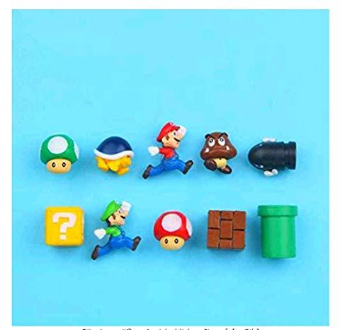 Ligoi 10 imanes 3D de Super Mario Bros para nevera, imán para mensaje de adulto, hombre, niña, niño, niños, juguete para regalo de cumpleaños, color amarillo