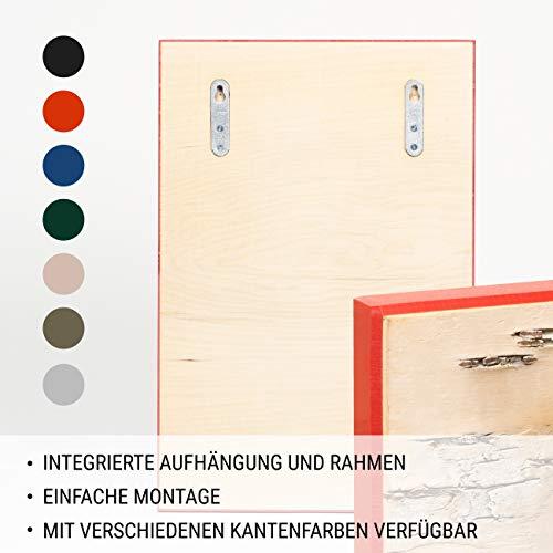 MOYA Wald Wanddeko aus Birkenrinde auf Holz - Moderne Wandverkleidung Birke Natur in Einer 3D Relief Optik – Wandpaneele Birke skandinavisch handgefertigt - Wandbild Natur Holzbild mit Rahmen,26x39cm - 6
