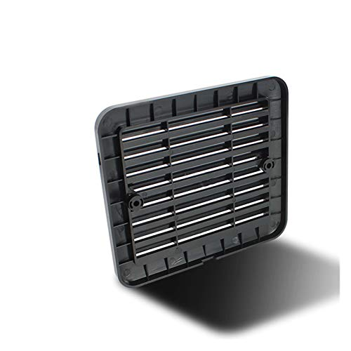 SSGLOVELIN 12V 8W Negro Frigorífico de Salida con Ventilador for RV remolques Caravana de Aire Laterales Fuerte Viento de Escape de automóviles Accesorios Car Styling Camper (Color : Only Lid)