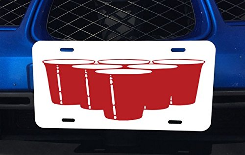 Beer Pong Cups Red Aluminum License Car National products Truck for Popular brand Vehicles Plate