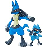 Pokemon Bandai Hobby Riolu & Lucario Pokemon Model Kit, Mulitcolor