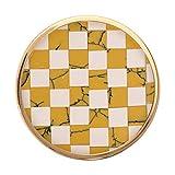 Nikki Lissoni Mustard/White Stone Mosaic Medium Gold Plated Coin C1230GM