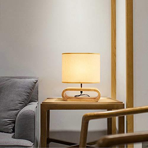 FHUA Lámpara Escritorio Lámpara Tronco Creativo decoración de Noche lámpara de Mesa pequeña Tela nórdica lámpara Interruptor de atenuación lámpara de Dormitorio 25 * 30.5 (cm)
