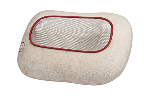 Ecomed MC-81E shiatsu-massagekussen, met warmtefunctie, 4 roterende massagekoppen voor nek, schouders, rug en benen