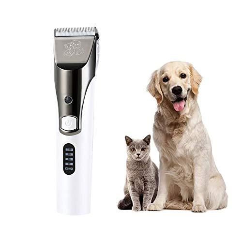 LTLHXM Pet Clipper Profesional Cortapelo Mascotas Lavable Bajo Ruido Recargable Maquinillas Eléctrica con 4 Peines Maquinillas para Higiene para Gatos para Perro y Gato