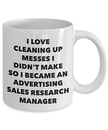 DKISEE Ik werd een Reclame Verkoop Onderzoek Manager Mok - Witte Koffie Beker - Reclame Verkoop Onderzoek Manager Gifts 11oz Kleur: wit