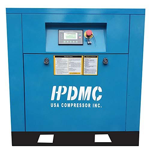 HPDMC 5HP 208-230V/60Hz / Single Phase/ 19cfm@125psi / Built-in Oil Separator Energy Efficient Variable Speed Rotary Screw Air Compressor