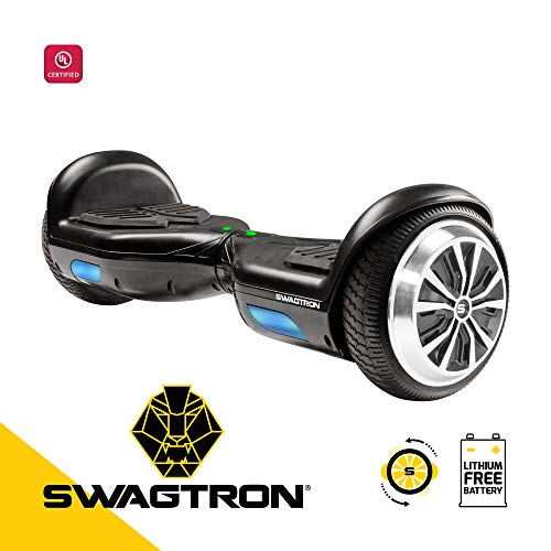 Swagboard Twist T881 Lithium-Free Kids Hoverboard - Easy Balance Wheels, Black