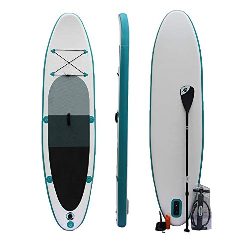 InChengGouFouX Tabla De Sup Hinchable 320x78x15cm Azul Sup Inflable Permanente Paddle Board Conjunto con una Fuerte Capacidad de Carga Touring Ligero Y Duradero (Color : Blue, Size : 320x78x15cm)