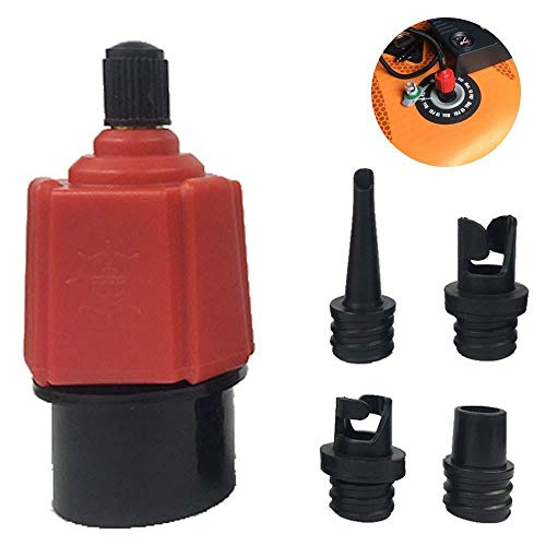 Volwco Air Valve Adaptor Multifunction Inflatable SUP Schrader Valve Adapter Accessories Air Pump Converter for Valves Kayak Inflatable Boat Raft Foot Pump Electric Pump