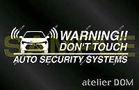 トヨタ カローラ カローラツーリング 210系用 セキュリティーステッカー 3枚セット (内貼りタイプ)[受注生産]アトリエDOM セキュリティ ステッカー