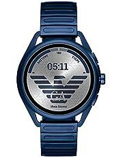 ساعة ذكية رقمية بمينا متعدد الالوان وسوار من الستانلس ستيل للرجال من امبوريو ارماني - ART5028