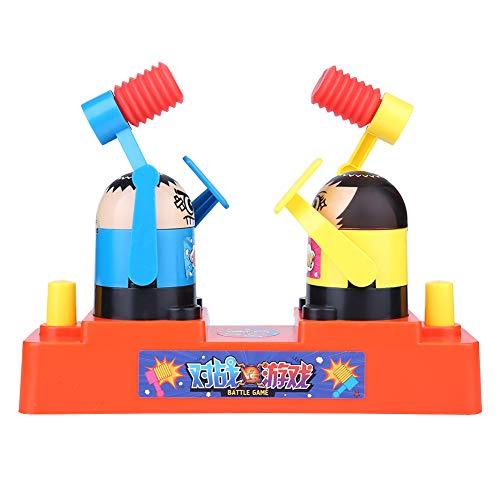 Doppia Battaglia Giocattolo Tavolo Martello Bastonatura Gioco Giochi Interattivi Intelligente Puzzle Toy Divertente Decompressione Alleviare Stress Ridurre Giocattoli Regalo Bambini Adulti(Yellow)