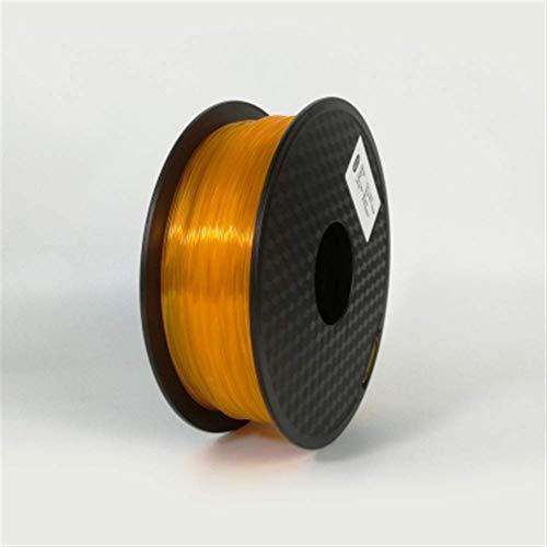 3D Printing Filament TPU Flexible Filament TPU filament Plastic for3D Printer 1.75mm Printing Materials Gray Black Red Color toughness (Color : Blue) JIAJIAFUDR (Color : Transparent Orange)