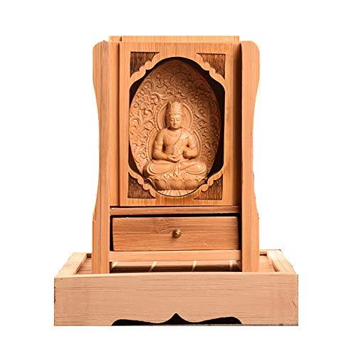 Buddhistischer Altar Buddha Statue Weinen des leeren Hauses Buddhistischer Altar Mini Mini Buddha Bild Wächter Priester Figur Beten Böse Apokalypse Buddha Altar Buddha Bild Öffnung zwölf Tierkreis Sku