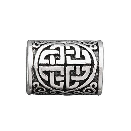 Beldiamo Anillo de plata de ley 925 con nudo celta para el pelo de Mórrígan, diseño enano, 3 g