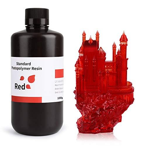 ELEGOO LCD UV 405nm Resina Rapida per Stampante 3D LCD 1000g Resina Fotopolimerica Rosso
