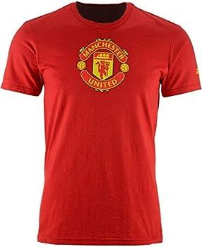 Manchester United Crest Performance T-Shirt  Medium  Red