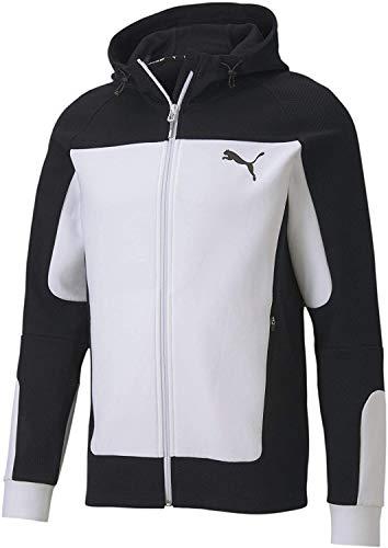 PUMA Herren EVOSTRIPE Hooded Jacket Trainingsjacke, White, M