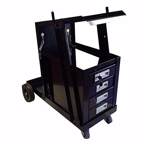 Guoz 4 Schubladen Bewegliche Räder Stahlschweißen Warenkorb Black