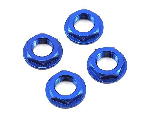 KHZKP347FN for 17mm Fine Thread Flanged Wheel Nut (Blue) (4) KHZ-KP-347-FN