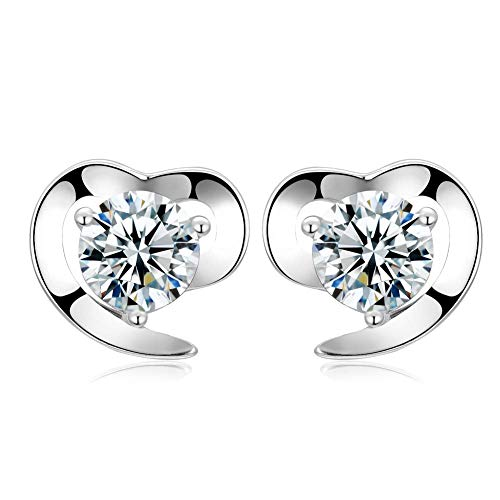 Februarys Ohrringe damen Liebe Herz Zirkonia Ohrstecker Earrings Set