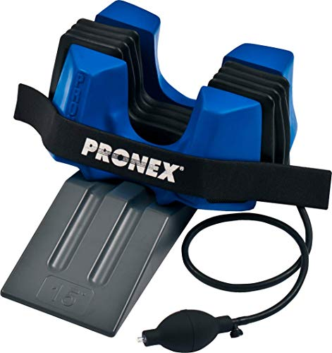 Pronex Portable Pneumatic Cervical Neck Traction Inflatable Collar Device with Wedge/Chiropractic Pain Relief and Relaxation at Home/Spinal Decompression/Supports Natural Curvature of Cervical Spine