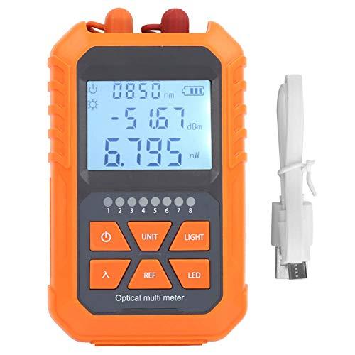Medidor de potencia óptica Mini comprobador de atenuación de luz de fibra...