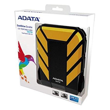 ADATA HD710 1TB USB 3.0 Waterproof/Dustproof/Shock-Resistant External Hard Drive, Yellow (AHD710-1TU3-CYL)