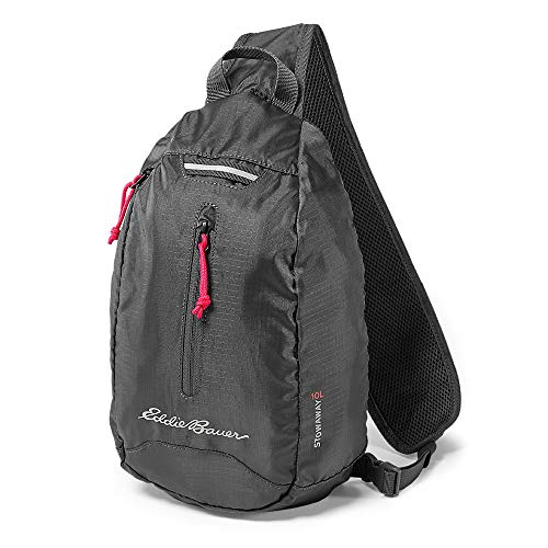 Eddie Bauer Unisex-Adult Stowaway Packable Sling Bag, Dk Smoke Regular ONESZE