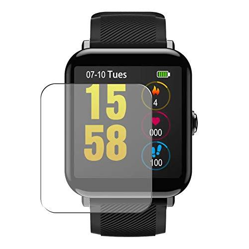 Vaxson 3 Stück Schutzfolie, kompatibel mit OUKITEL W2 1.3 Smartwatch smart watch, Displayschutzfolie TPU Folie [ nicht Panzerglas ]