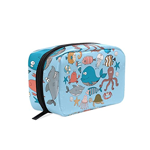 AJINGA Divertido gato colorido cara patas cosmético bolsa de cosméticos cremallera aseo bolsa de viaje señoras cuadrado maquillaje cepillos bolsa