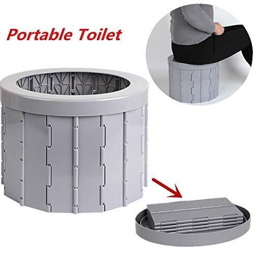 Yunhigh-uk Neue Campingtoilette Tragbar für Erwachsene Kinder, Camping WC Toilettensitz Klappbarer Massentöpfchen-Mülleimer für Wohnmobile Wandern Lange Reisen, leicht zu reinigen
