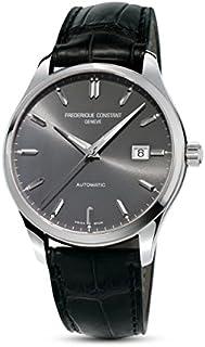 Frederique Constant Grey Dial Leather E-Strap Men's Watch FC-303LGS5B6