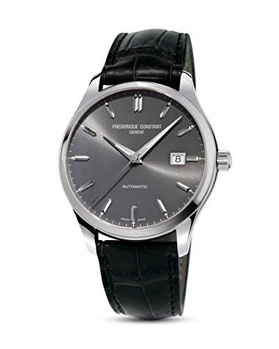 Frederique Constant Classic Index Automatic Steel Mens Watch E-Strap Date FC-303LGS5B6
