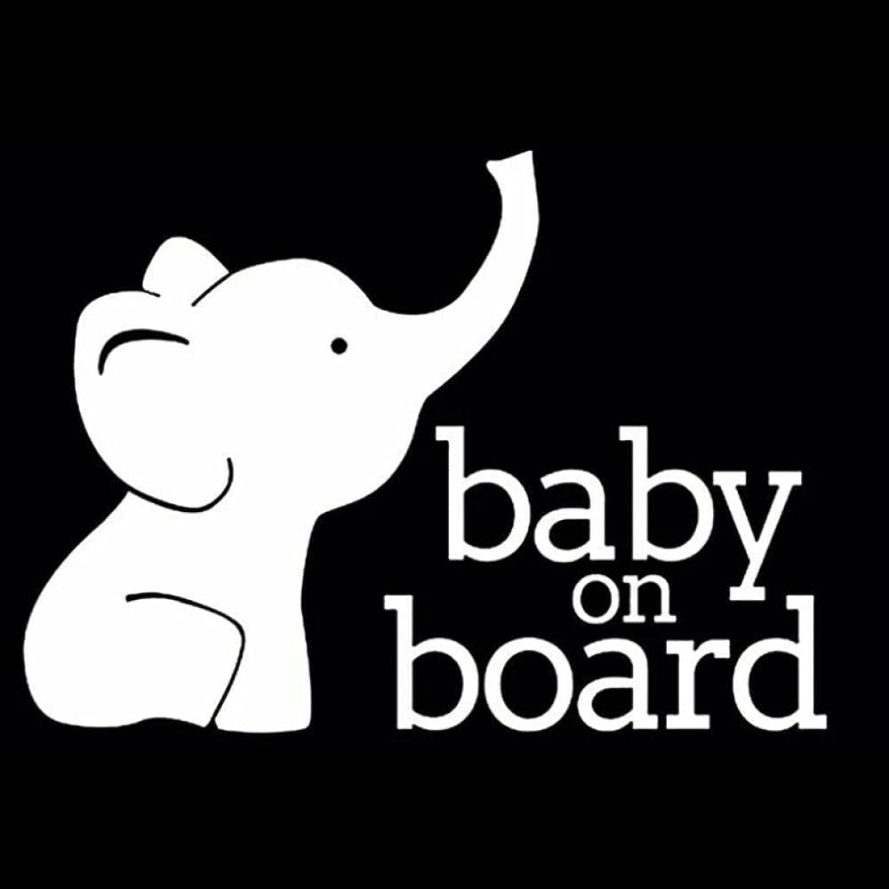 Car Stickers 17X12.3CM Baby 2021 model ON Funny Ranking TOP10 Self-Adhesive Waterpr Board