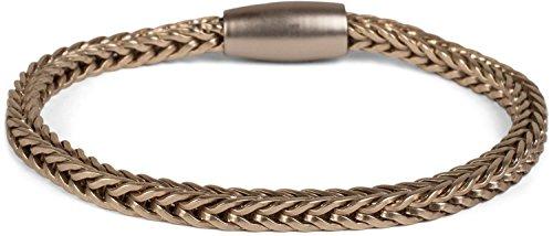 styleBREAKER Zopfketten Armband mit Magnetverschluss, Kette, Schmuck, Damen 05040132, Farbe:Gold