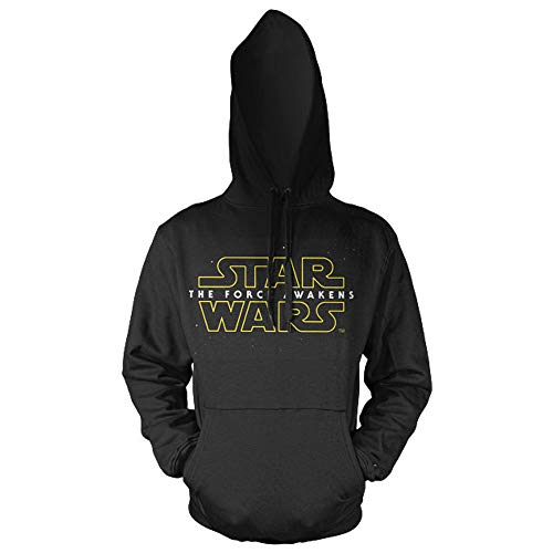 Star Wars Officiellement Marchandises sous Licence The Force Awakens Logo Hoodie (Noir), X-Large