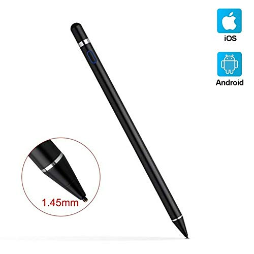 Stylus Pencil Compatible for Apple,Active Stylus Pen for Touch Screens, 1.5mm Metal Fine Point High Sensitivity Digital Stylus Pen Compatible with iPad,Android Tablet and Other Touch Screen (Black)