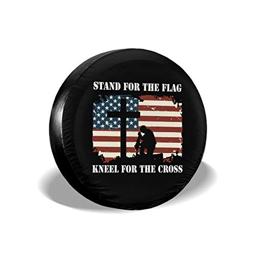 ULNL Baseball American Flag Spare Wheel Tire Cover Funny Waterproof Tire Protectors Novelty