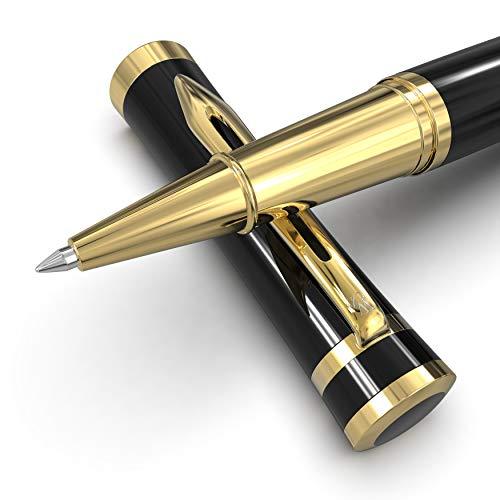 Wordsworth & Black Bolígrafo de gel, perfecto para hombres y mujeres, oro negro