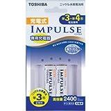 東芝 充電式IMPULSE用充電器セット(4本充電器+単3形min.2400mAh 2本) TNHC-32AH