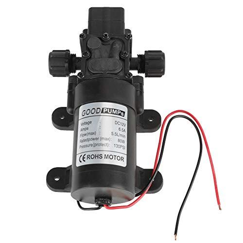 KAIBINY Bomba de Agua de Bomba de Agua de Auto cebado de 12V 80W 5.5L / MIN DIAFRAGM con Interruptor de presión